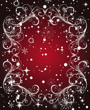 Red Winter Frame Royalty Free Stock Photo