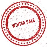 Red WINTER SALE distressed rubber stamp with grunge texture. Illustration Stock Photography