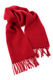 Red winter scarf Royalty Free Stock Image