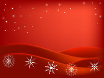Red winter snowflake background Stock Photos