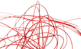 Red wire on a white background Royalty Free Stock Image
