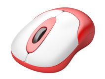 Red Wireless PC mouse Royalty Free Stock Photo