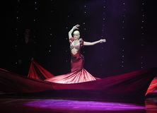 The red witch-India memories-the Austria's world Dance Royalty Free Stock Image