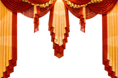 Red With Gold Stage Curtain Stock Photography