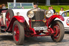 Red-Withe alfa romeo 24HP Royalty Free Stock Photography