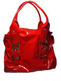 Red woman bag Royalty Free Stock Images