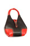 Red woman bag isolated. On the white Royalty Free Stock Image