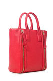 Red woman bag isolated on white Stock Photo