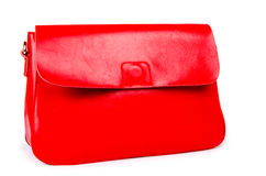 Red woman bag isolated on white Royalty Free Stock Images