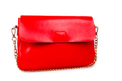Red woman bag isolated on white Stock Photography