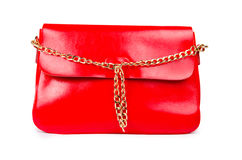 Red woman bag isolated on white Royalty Free Stock Photography