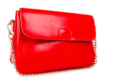 Red woman bag isolated on white Stock Images