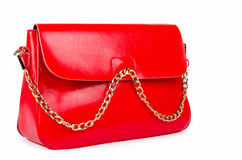 Red woman bag isolated on white Stock Image