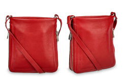Red woman bag . Stock Photos