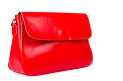 Red woman bag  on white Royalty Free Stock Image