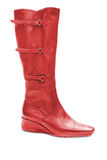 Red woman boot Stock Photo