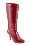 Red woman boot Royalty Free Stock Photos