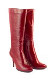 Red woman boots Stock Image