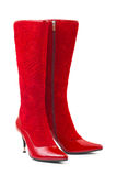Red woman boots Royalty Free Stock Photos