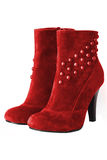 Red woman boots isolated Stock Photos