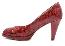 Red woman fashionable shoe Stock Image