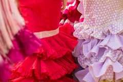 Red woman flamenco clothes Royalty Free Stock Images