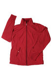 Red woman's sports jacket royalty free stock image
