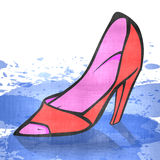 Red woman shoe Royalty Free Stock Photos