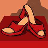Red woman shoe Royalty Free Stock Image