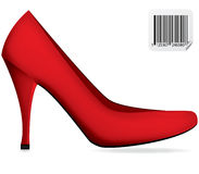 Red woman shoe,vector Royalty Free Stock Images