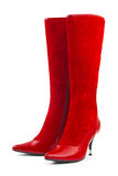 Red woman shoes Royalty Free Stock Photo