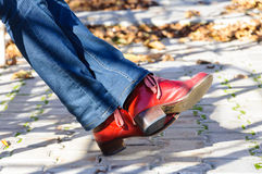 Red woman shoes Royalty Free Stock Photography