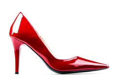 Red woman shoes. Royalty Free Stock Photos