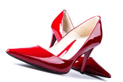 Red woman shoes. Stock Photography
