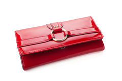 Red woman wallet Stock Image