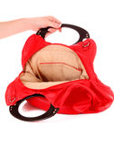 Red women bag isolated Royalty Free Stock Image