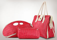 Red women bags Stock Photos