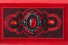 The red women clutch bag Stock Images