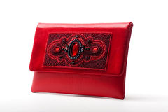 The red women clutch bag Royalty Free Stock Photo