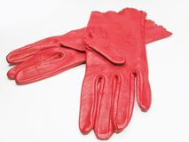 Red women gloves Stock Photography