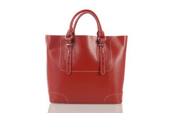Red women handbag isolated on white background Stock Photo