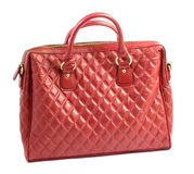 Red women's leather shoulder bag briefcase, Royalty Free Stock Image