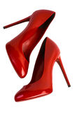 Red  women shoes with clipping path. Stock Photo