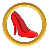 Red women shoes vector icon Royalty Free Stock Photo