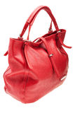 Red womens bag isolated on white background. Royalty Free Stock Images