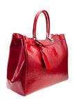 Red womens bag  on white background. Royalty Free Stock Image