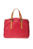 Red womens bag  on white background. Stock Images