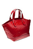Red womens bag  on white background. Stock Image