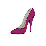 Red womens high heels Stock Photo