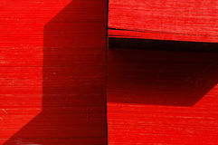 Red Wood. Some wood  bord in the construction material market Stock Images